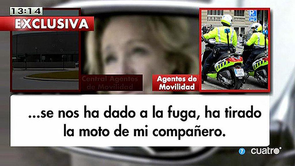 En exclusiva, las comunicaciones de los Agentes de Movilidad y el 091 tras el incidente de Esperanza Aguirre