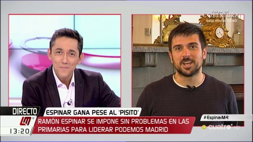 Ramón Espinar apoya el relevo de José Manuel López en la Asamblea de Madrid