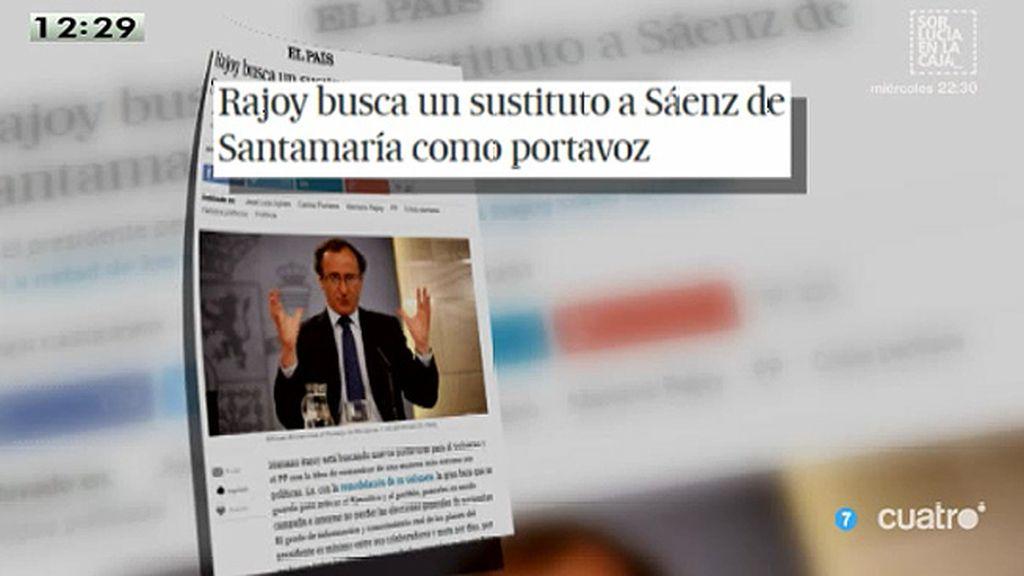 Rajoy busca un sustituto a Sáenz de Santamaría como portavoz, según 'El País'