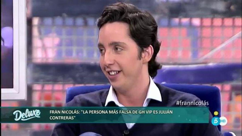 """Fran Nicolás: """"En el sexo soy lo contrario a clásico, me gusta pasármelo bien"""""""