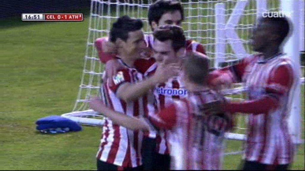 Aduriz no falla desde los 11 metros para adelantar al Athletic contra el Celta