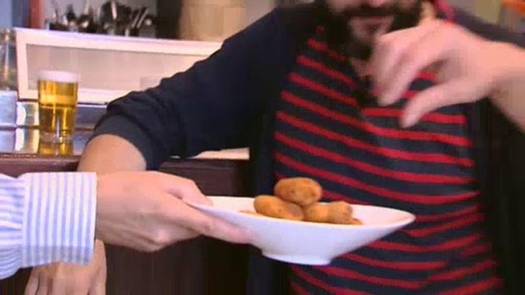 La tapa de la Taberna Arzábal: Croqueta de jamón ibérico