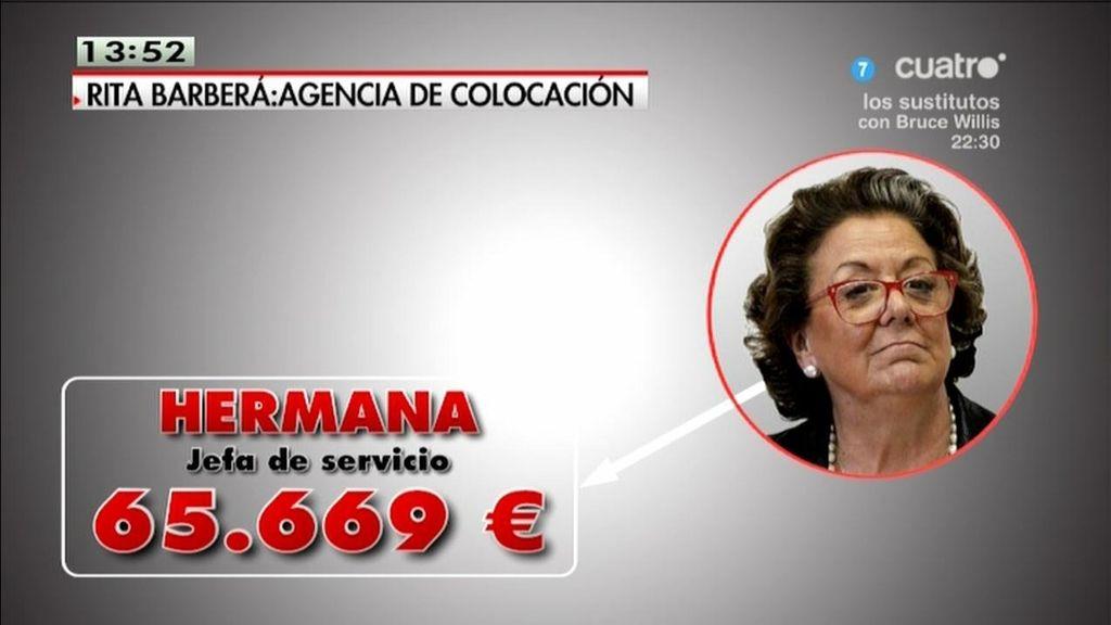 La 'agencia de colocación' de Rita Barberá
