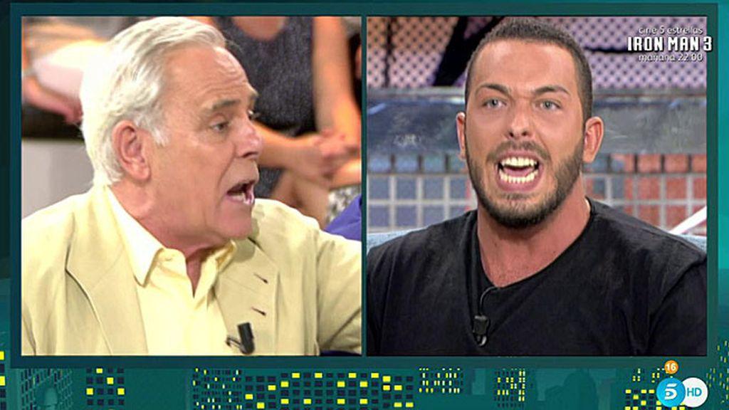 """Alberto Isla, fuera de sí, a Jimmy Giménez Arnau: """"¡No tienes vergüenza!"""