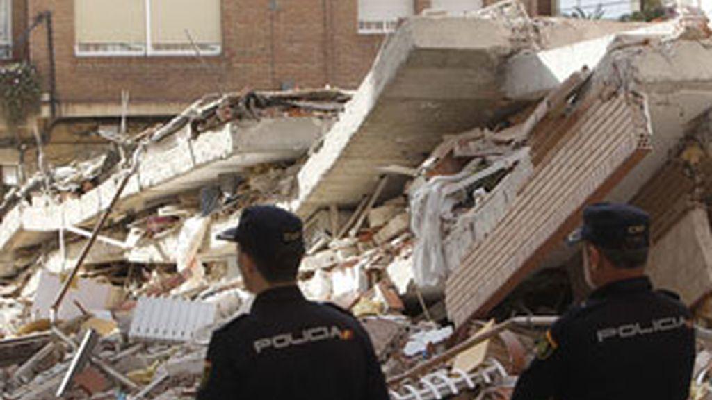 Lorca tras los seísmos del pasado mayo. Foto: EFE