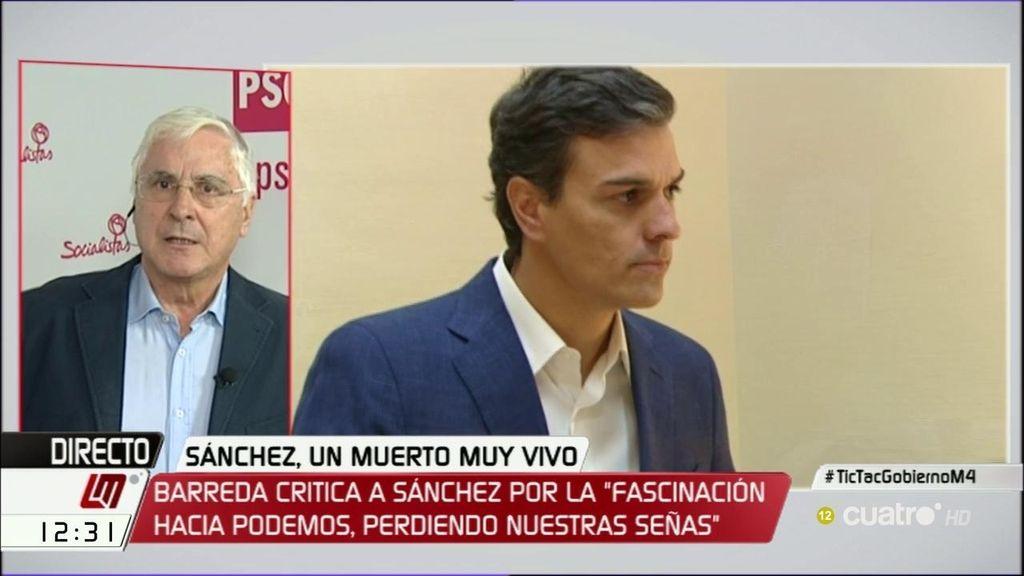 """Barreda, de Pedro Sánchez: """"Ahora se quiere montar un relato para ponerse heroico"""""""
