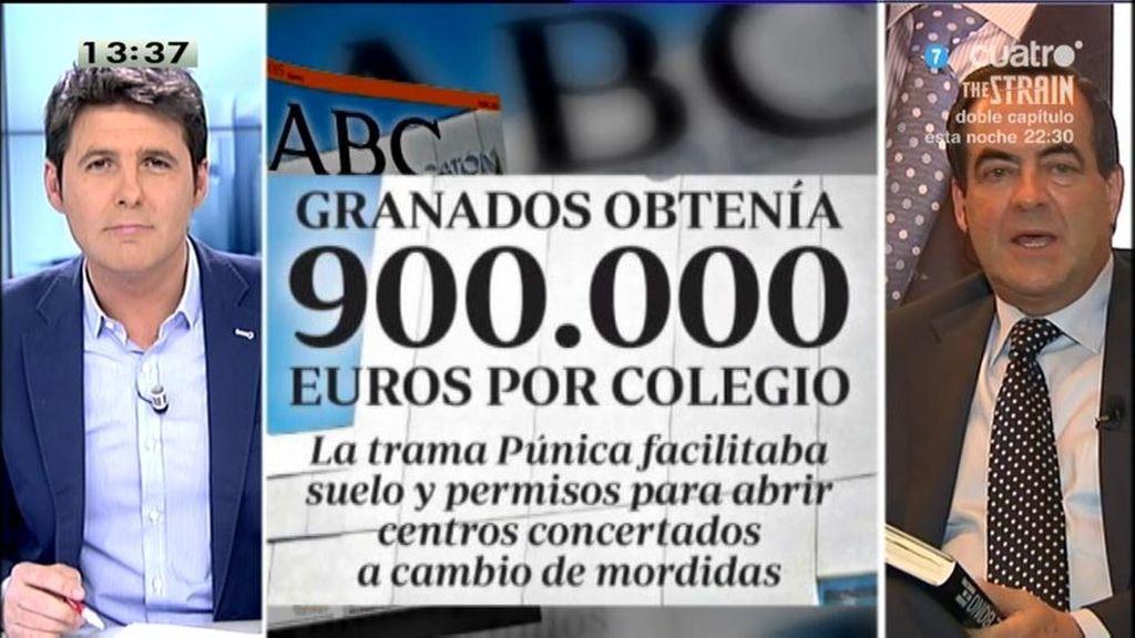 Granados y Marjaliza cobraban una comisión de 900.000 euros por concertar colegios