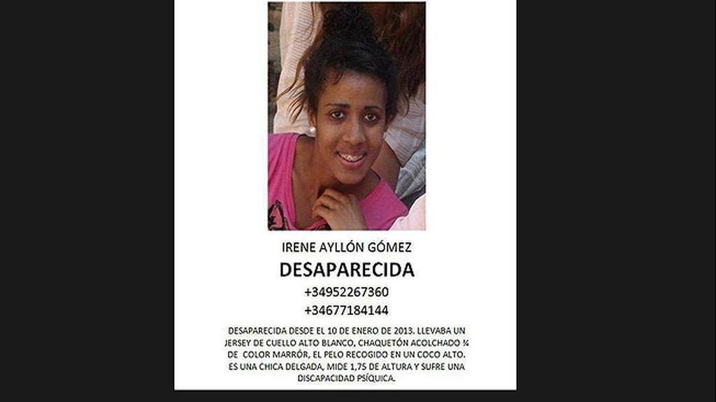 Irene Ayllón, jóven desaparecida en Málaga