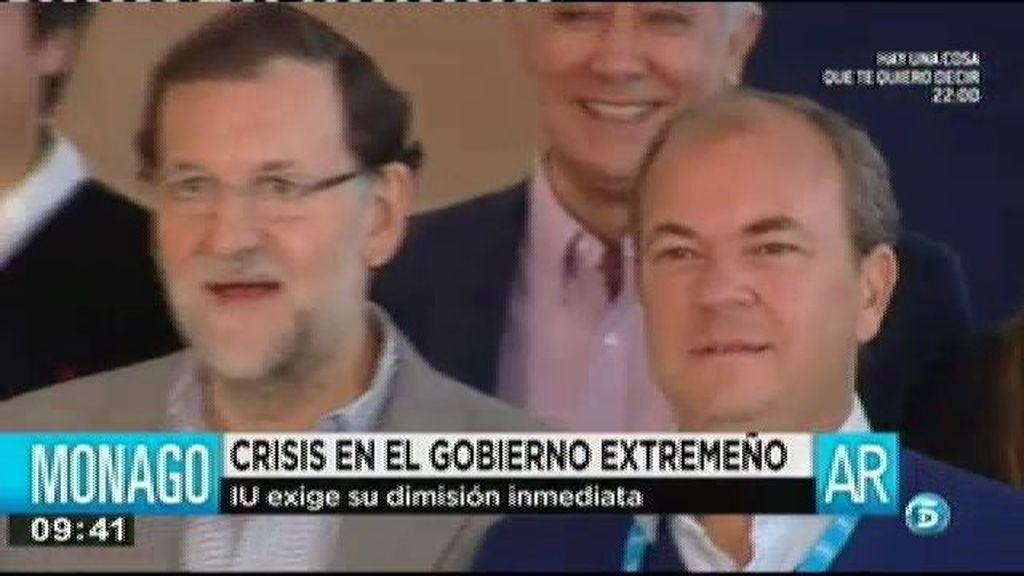 IU pide la dimisión inmediata de José Antonio Monago