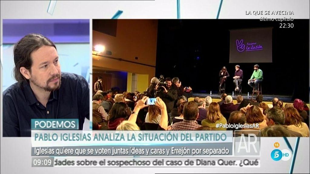 """Iglesias: """"Íñigo y yo coincidimos en lo fundamental, pero hay cosas en las que no"""""""