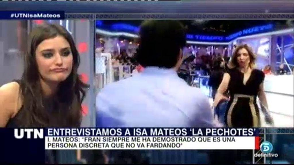 "Isabel Mateos: ""Idolatro a Fran, doy gracias a Dios por tenerlo como amigo"""