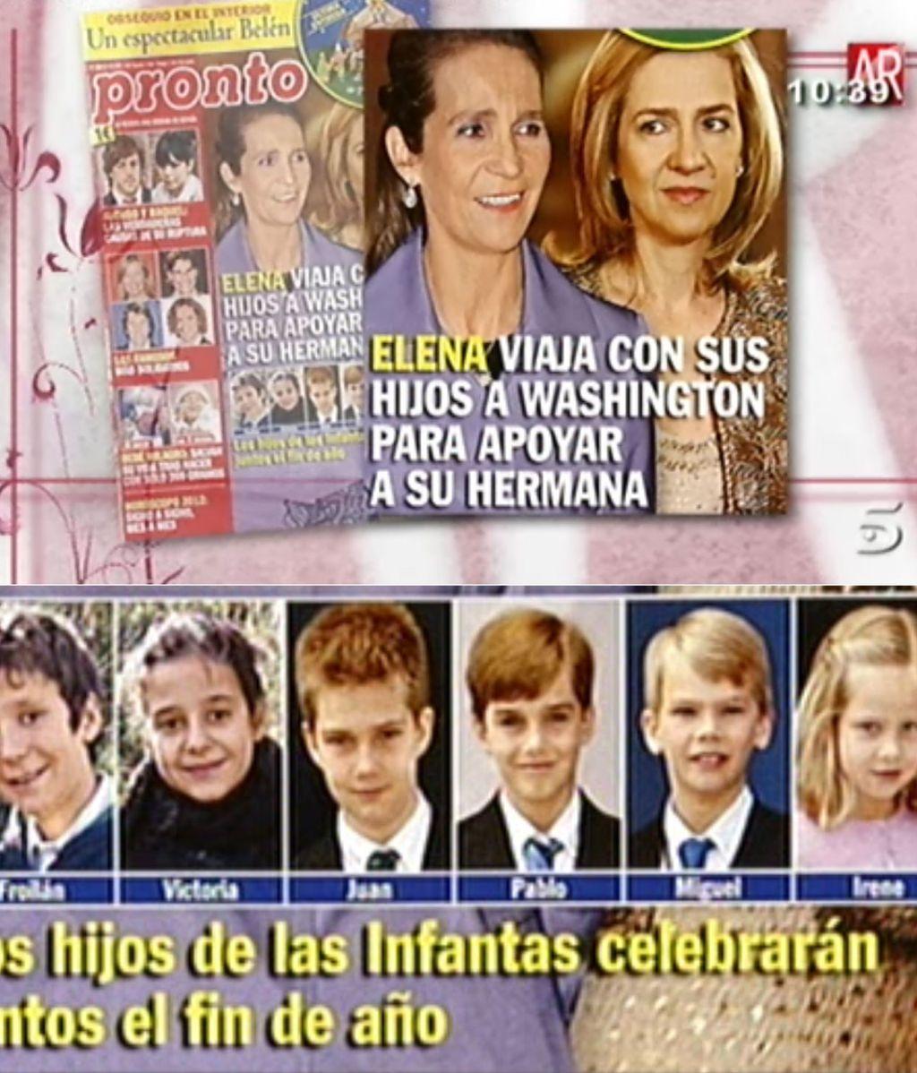 La infanta Elena viajará a Washington para apoyar a su hermana y su cuñado