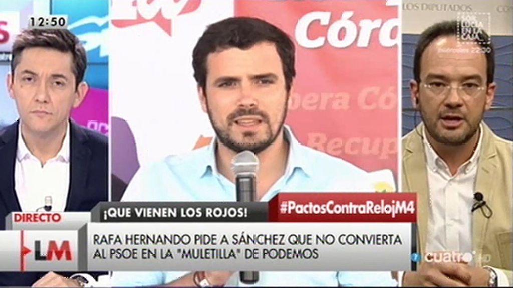 """Antonio Hernando. """"Me parece una pena que haya fuerzas de izquierdas que se quieran disolver en otros conglomerados políticos"""""""