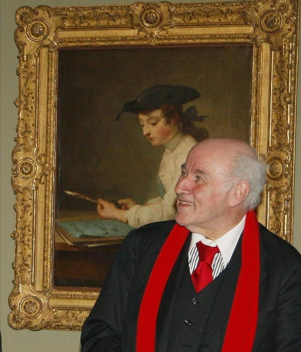 El director honorario del Museo de Louvre, el francés Pierre Rosenberg. EFE/Archivo