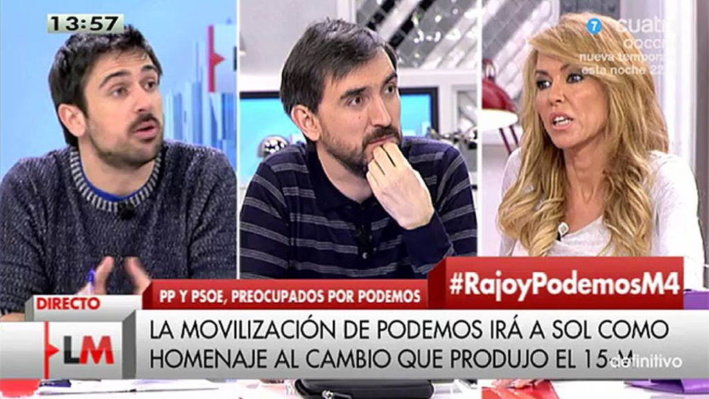 """Montse Suárez: """"Lo que de Pablo Iglesias es que deje de contratar a personas que amenazan por la red como Facu Díaz"""""""