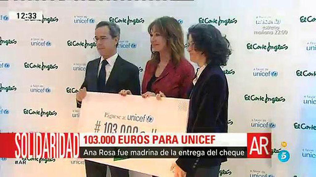 Ana Rosa, madrina de una campaña solidaria para Unicef