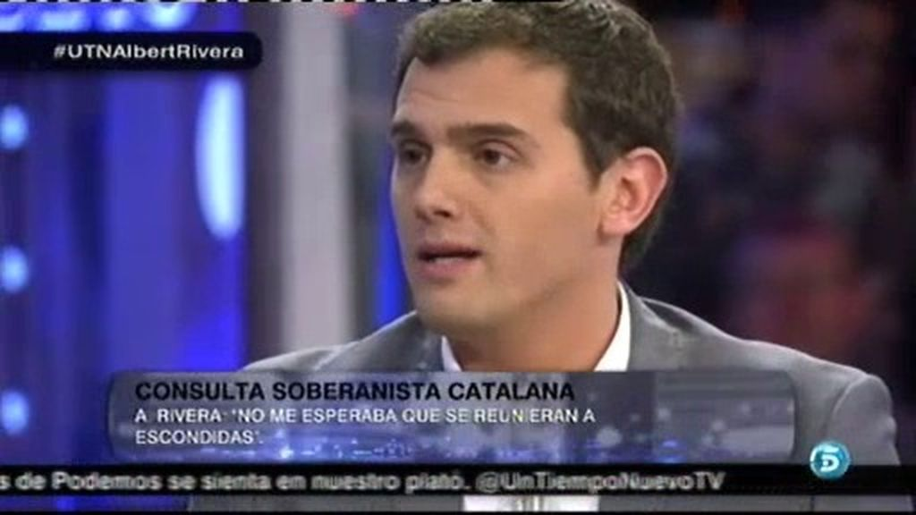 """Albert Rivera: """"Es incómodo para los que no somos separatistas vivir en Cataluña"""""""
