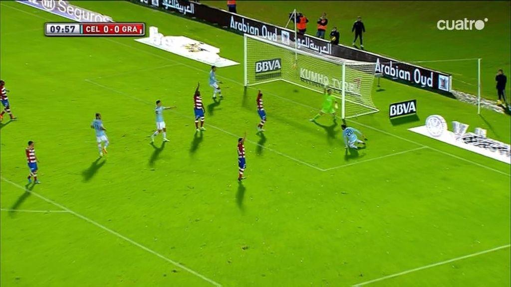 Gol anulado al Celta de Vigo por fuera de juego de Sergi Gómez, acertó el árbitro