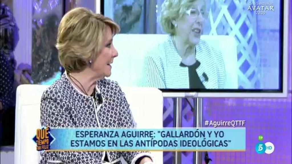 Esperanza Aguirre arremete contra el gobierno de Manuela Carmena
