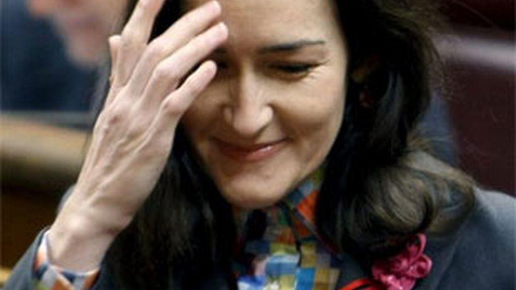 Imagen de archivo de la ministra de Cultura, Ángeles González-Sinde. Foto:EFE.