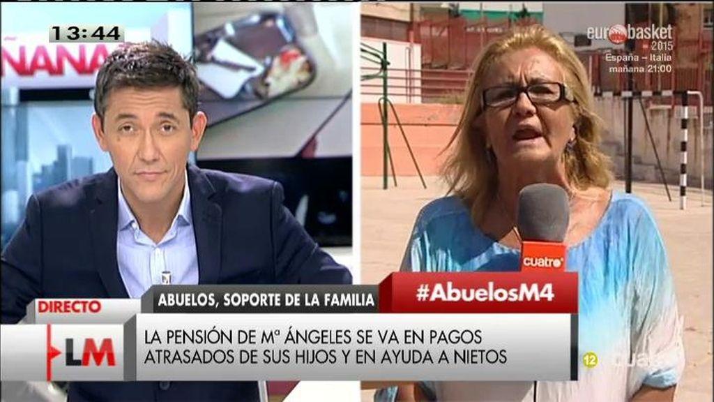"""Mª Ángeles: """"Me da la risa cuando veo lo que va a subir la pensión"""""""