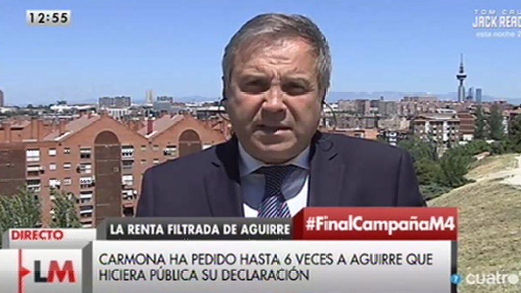 """Carmona responde a las insinuaciones de Aguirre sobre la filtración: """"¡Qué calumnia!"""""""