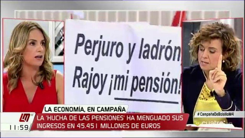 """Susana Sumelzo: """"Rajoy ha dilapidado la hucha de las pensiones"""""""