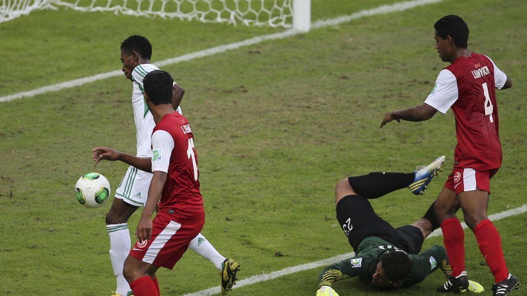 Tahití 1-6 Nigeria, en imágenes