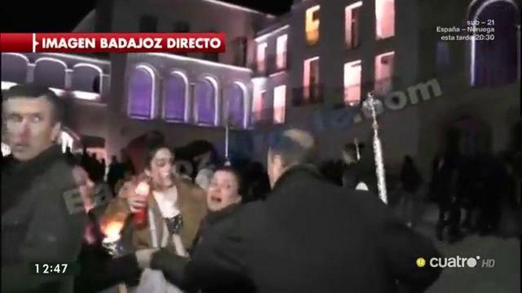 Pánico en la procesión de Badajoz provocado por un fuerte sonido