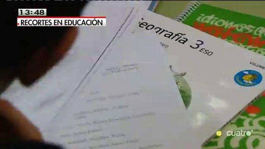 Recortes en educación: 200.000 familias que se vieron afectadas en el curso anterior