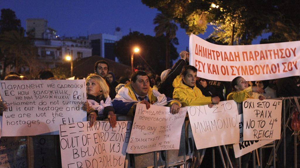 """El Parlamento de Chipre aprueba parte del denominado """"plan B"""""""