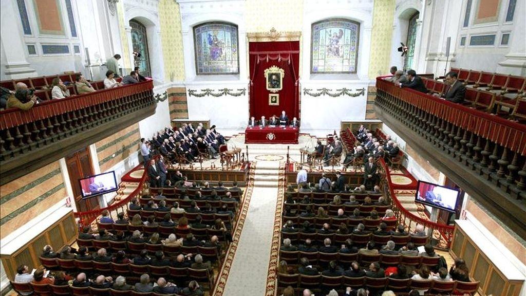 """Vista general de la sala de la sede de la Real Academia de la Lengua en Madrid, durante el acto de presentación de los nuevos dominios de """"Red.es"""". EFE/Archivo"""