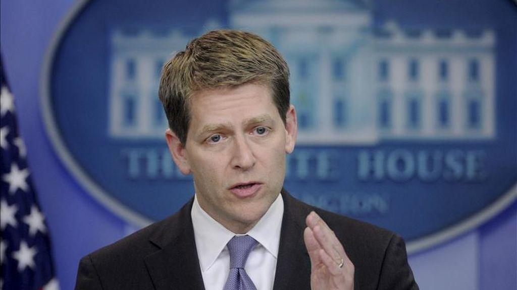 El portavoz de la Casa Blanca, Jay Carney, indicó que Bin Laden presentó resistencia a su captura por lo que se abrió fuego contra él. EFE/Archivo