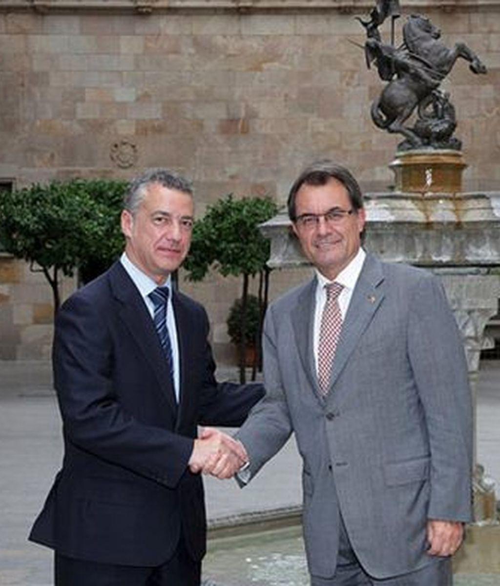 Íñigo Urkullu y Artur Mas en una imagen archivo