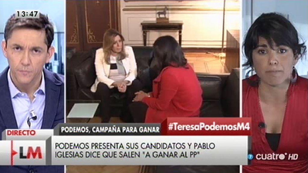 """T. Rodríguez, sobre la investidura de Díaz: """"Si hay cambios, podemos hablar"""""""