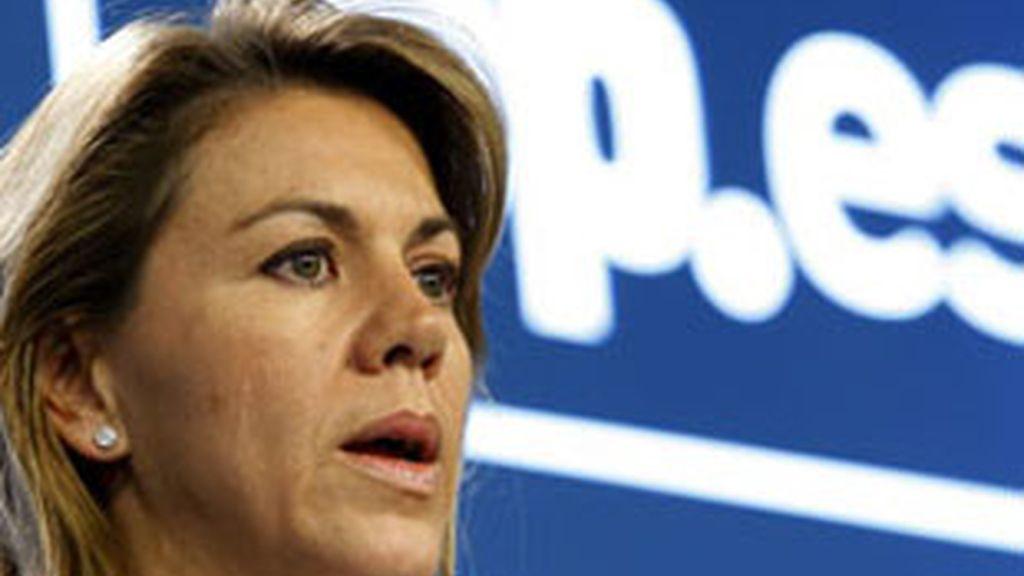 Imagen de archivo de la presidenta de Castilla-La Mancha y secretaria general del PP, María Dolores Cospedal. Foto: EFE.