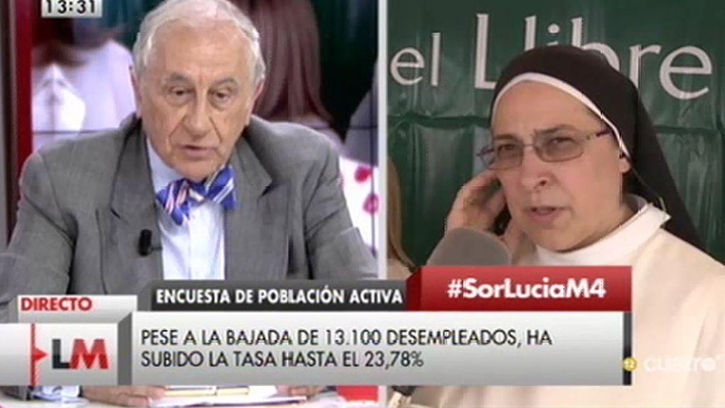 """Sor Lucía: """"Yo no noto la recuperación, las buenas noticias no han llegado a la gente"""""""