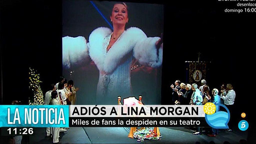 Miles de fans despiden a Lina Morgan en el teatro La Latina