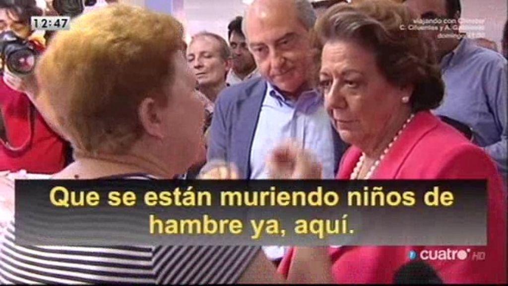 Rita Barberá, entre abucheos y vítores