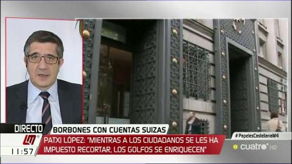 "Patxi López: ""Para mí, defraudar es robar"""