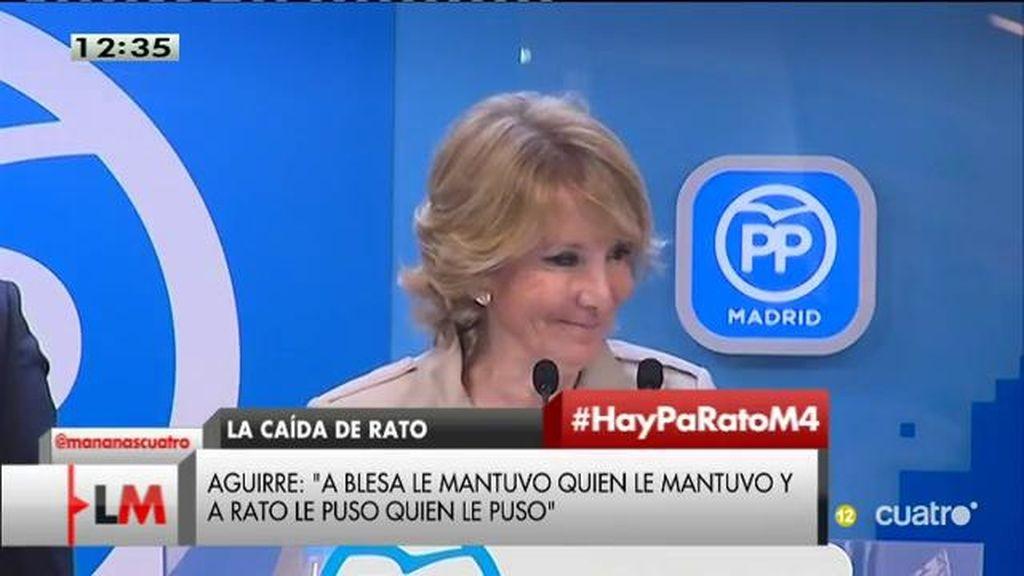 "Aguirre: ""Yo no propuse a Rodrigo Rato para presidir Caja Madrid, todo lo contrario"""