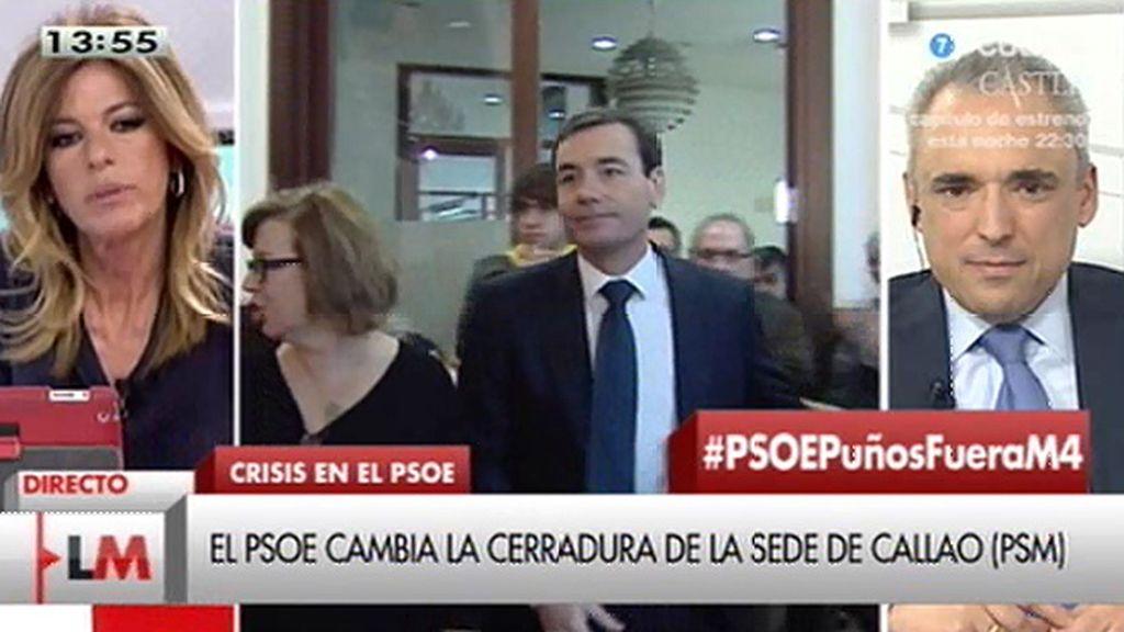 """Simancas: """"El presidente de la comisión gestora tiene preocupaciones intensas además del destino de una cerradura"""""""