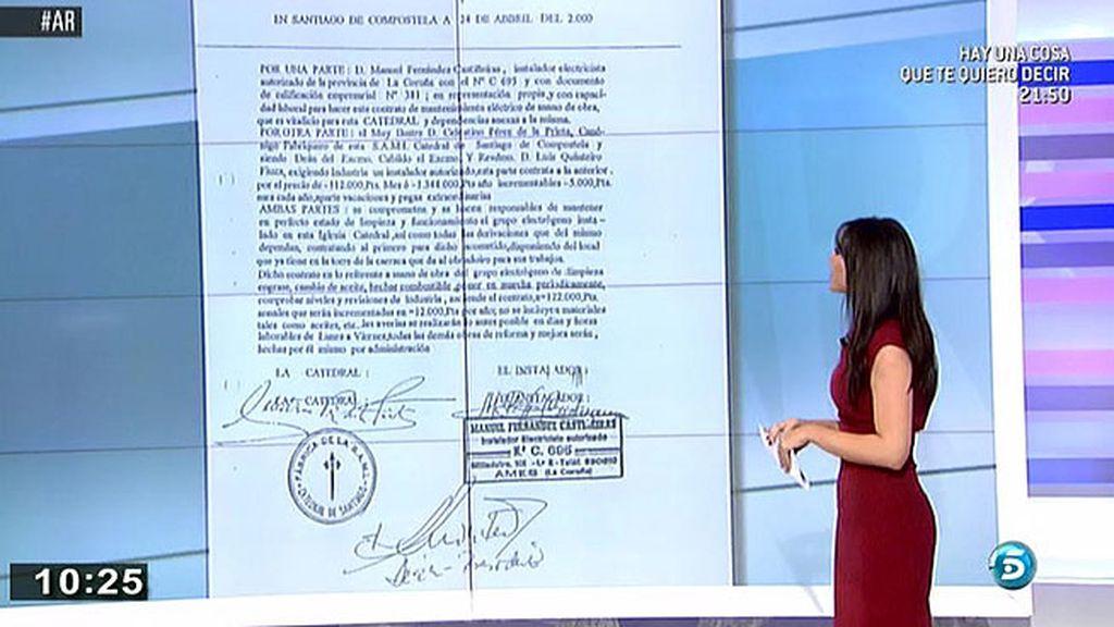 Manuel F. Castiñeiras, el ladrón del Códice, falsificó el contrato que tenía con la Catedral