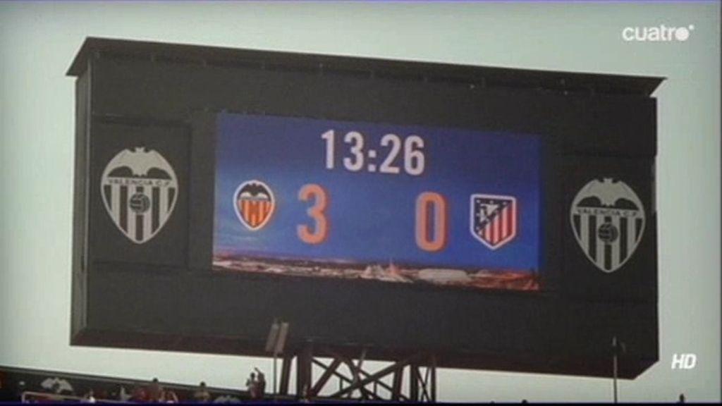 El Valencia arrolló al Atleti en 13 minutos
