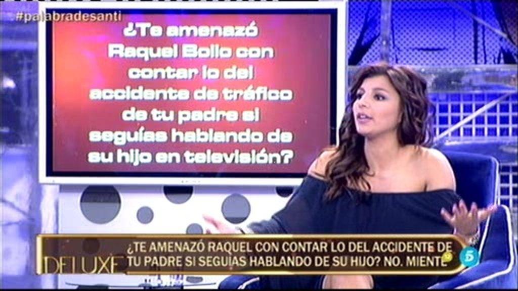 Aguasantas 'pillada' en el 'Polideluxe': ¡Bollo la amenazó con contar asuntos de su familia!