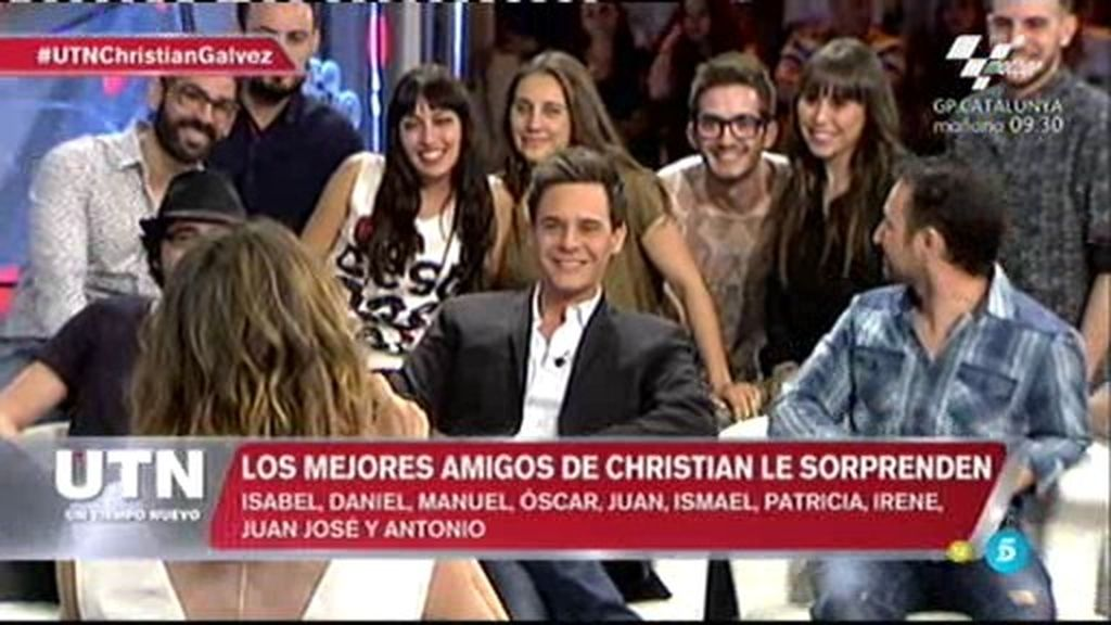 Diez sorpresas para Christian Gálvez… ¡sus amigos acuden al plató!