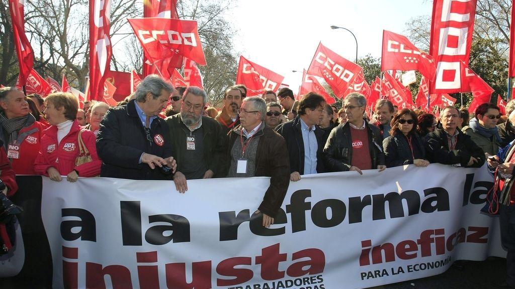 Manifestación en Madrid.Foto: EFE.