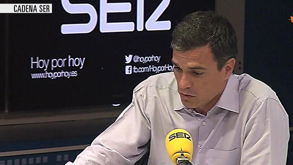 """Pedro Sánchez: """"Susana y yo compartimos un mismo camino"""""""