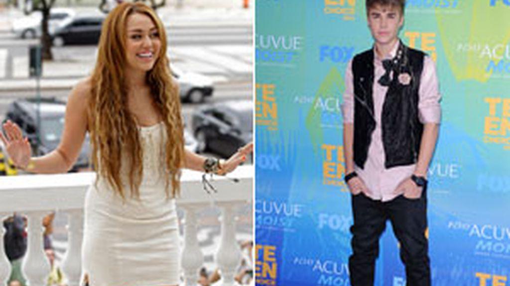 Miley Cyrus y Justin Bieber, jóvenes y millonarios. Fotos: Gtres