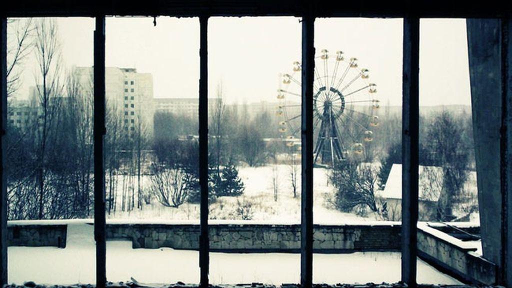 Un parque de atracciones abandonado en Ucrania
